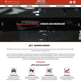 Propuesta para web corporativa FCM Electrónica