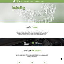 Desarrolllo web formato OnePage para portal corporativo de Clinica Dental Reche