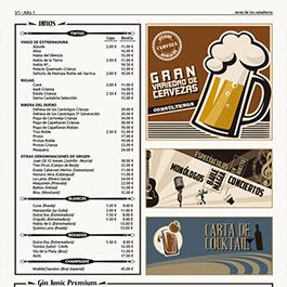 Carta Café Bar La Calle Fama