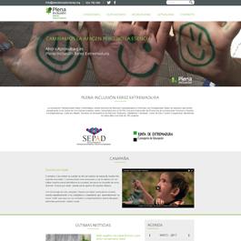 Diseño para web corporativa Plena Inclusión Xerez