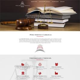 Propuesta de diseño para web corporativa Pérez-Montes & Carrascal Abogados